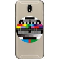 Cekuonline Samsung Galaxy J7 Pro J730 Desenli Esnek Silikon Telefon Kapak Kılıf - Broadcast