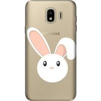 Cekuonline Samsung Galaxy J6 (2018) Desenli Esnek Silikon Telefon Kapak Kılıf - Tavşan