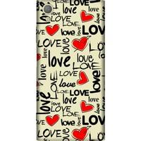 Cekuonline Sony Xperia XA1 Desenli Esnek Silikon Telefon Kapak Kılıf - Love Letter
