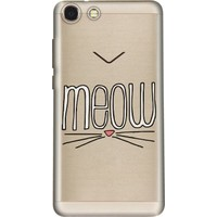 Cekuonline Vestel Venüs V4 Desenli Esnek Silikon Telefon Kapak Kılıf - Meow