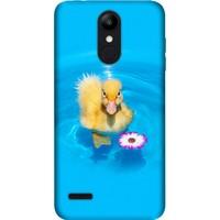 Cekuonline LG K9 Desenli Esnek Silikon Telefon Kapak Kılıf - Ördek