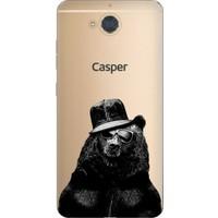 Cekuonline Casper Via A1 Desenli Esnek Silikon Telefon Kapak Kılıf - Şapkalı Ayı