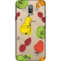 Cekuonline Samsung Galaxy J7 Duo Desenli Esnek Silikon Telefon Kapak Kılıf - Çizim Meyveler