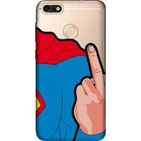 Cekuonline Huawei Honor 7C Desenli Esnek Silikon Telefon Kapak Kılıf - Superman FCK