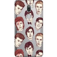 Cekuonline Xiaomi Mi 5S Plus Desenli Esnek Silikon Telefon Kapak Kılıf - David Bowie