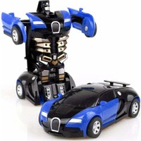 Öz-Ka Oyuncak Otomatik Robota Dönüşen Araba Mavi Renk