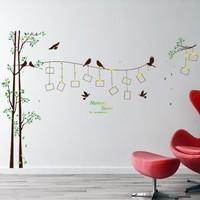 Crystal Kids Fotoğraf Resim Çerçeveli Ağaç Ev Dekorasyonu Duvar Dekoru Sticker