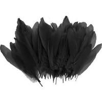 Partifabrik Şeffaf Balon İçi Siyah Tüy 100 lü