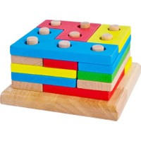 Piramigo Ahşap Blok Tetris Yerleştirme Oyunu - Russian Box Set