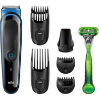 Braun MGK3040 Çoklu Bakım Kiti Siyah/Mavi – Erkekler Için Yedisi Bir Arada Sakal / Saç Ve Vücut Tüyü Şekillendirici, 7 in 1