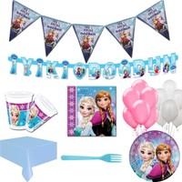 Balonpark 16 Kişi Elsa Frozen Parti Malzeme Paketi Süsleme Konsept Seti