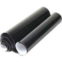 Carbins Karbon Fiber Folyo 5D Siyah Vinil Parlak(Boyut: 50Cm X152Cm)