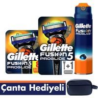 Gillette Fusion ProGlide Tıraş Paketi (Tıraş Makinesi + 8'li Bıçak + Jel+ Seyahat Çantası)