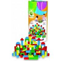 Woodoy Ahşap Bloklar 100 Parça (Renkli)