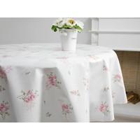 English Home Rose Pvc Baskili Masa Ortusu 140 Cm Pembe