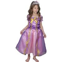 Butikhappykids Kız Çocuk Prenses Rapunzel Kostümü Ve Taç