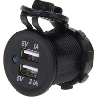 Platoon PLH-0598 Araç Ve Motosiklerler İçin 2 Port USB Şarj Soketi 5 V 2.1 A 5V 1A