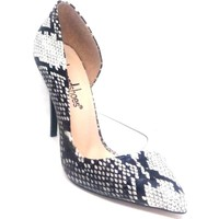 Shop And Shoes 100-1964 Kadın Stiletto Siyah Yılan