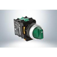 Plastim Işık Mandal Buton 1-0-2 Yeşil Led 24V
