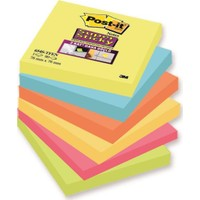 Post-İt® Super Sticky Not, Tutti Frutti Serisi, 6Lı Paket, 90 Yaprak, 76X76Mm