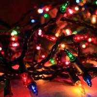 Partini Seç Renkli Yılbaşı Çam Ağacı Işığı 4 metre Led Lambaları Işık