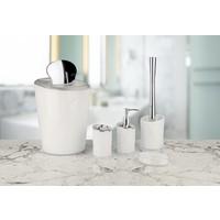 Hiper Kromajlı Beyaz 5 Parça Banyo Seti