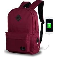 My Valice Smart Bag Specta Usb Şarj Girişli Akıllı Sırt Çantası Bordo