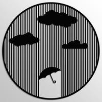 Tablo Art House Metal Tablo Yağmur