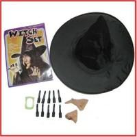 PartiniSeç Tırnak,burun,çene,diş,Şapka cadı seti Halloween Cadılar Bayramı Parti Malzemesi