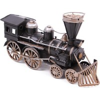 Evim Tatlı Evim Nostaljik Lokomotif Tren Metal Biblo 24 cm