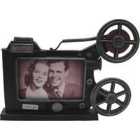 Evim Tatlı Evim Metal Sinema Makinesi Fotoğraf Çerçevesi