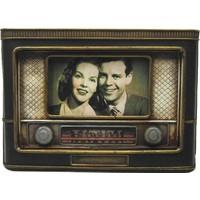 Evim Tatlı Evim Nostaljik Metal Radyo Resim Çerçevesi