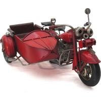 Evim Tatlı Evim Nostaljik Sepetli Metal Motosiklet