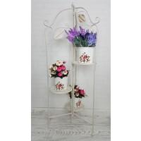 Evim Tatlı Evim Ferforje Üçlü Açılır Çiçeklik 115 cm