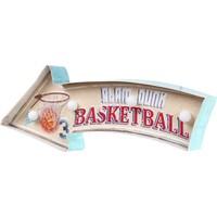Evim Tatlı Evim Basketball Led Işıklı Metal Tabela 41 cm