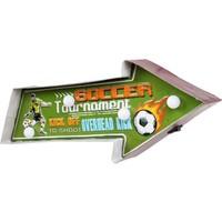 Evim Tatlı Evim Football Led Işıklı Metal Tabela 41 cm