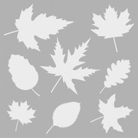 Artikel Yapraklar Stencil Tasarımı 30 x 30 Cm