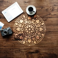Artikel Mandala Stencil Tasarımı 30 x 30 Cm