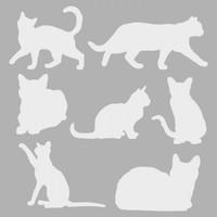Artikel Kediler Stencil Tasarımı 30 x 30 Cm