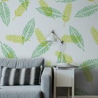 Artikel Tropikal Yapraklar 2 Stencil Tasarımı 30 x 30 Cm