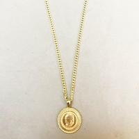 Vella Jewels Halat Zincirli Antik Para Madalyon Kolye