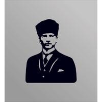 Türk Reklam Atatürk Metal Portre Silüeti Dekoratif Metal Tablo