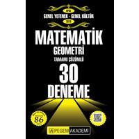 Pegem Akademi 2019 KPSS Genel Yetenek Genel Kültür Matematik - Geometri 30 Deneme - Kerem Köker - Kenan Osmanoğlu