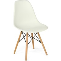 Hepsi Home Eames Sandalye Ahşap Ayaklı - Beyaz