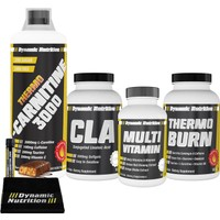 Dynamic Nutrition Thermo L-Carnitine 3000 mg 1000 ml + Thermo Burn 60 tablet + CLA 1000 mg 90 kapsül + Multivitamin 30 tablet + 3 HEDİYE