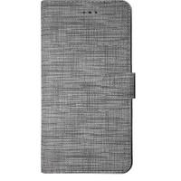 Huawei P Smart 2018 Yan Kapaklı Cüzdanlı Kartlıklı Kılıf Gri