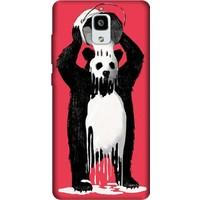 Cekuonline Xiaomi Mi 4 Desenli Esnek Silikon Telefon Kapak Kılıf - Panda Kingo