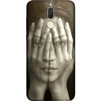Cekuonline Huawei Mate 10 Lite Desenli Esnek Silikon Telefon Kapak Kılıf - Portre Kız