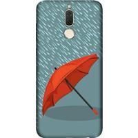 Cekuonline Huawei Mate 10 Lite Desenli Esnek Silikon Telefon Kapak Kılıf - Kırmızı Şemsiye