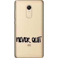 Cekuonline Xiaomi Redmi Note 4X Desenli Esnek Silikon Telefon Kapak Kılıf - Never Quit